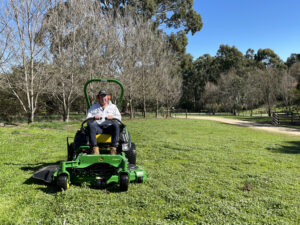 Adelaide Hills Farm Services has just taken delivery of a John Deere Zero Turn Lawn Mower